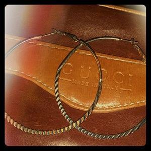 Silver hoop rings